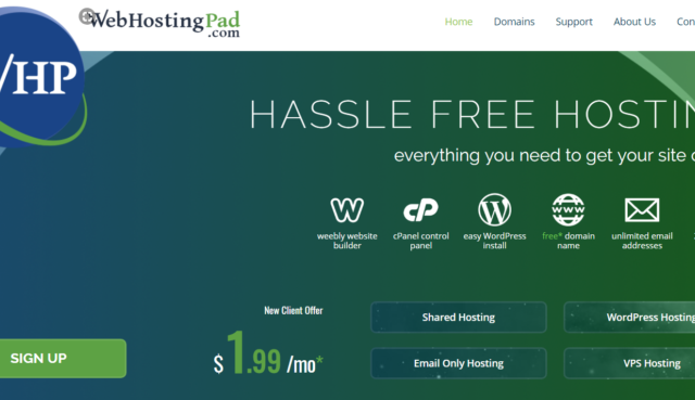 WebHostingPad: The types of Hosting Services They Offer